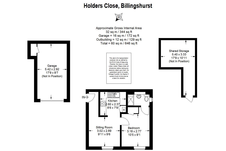 Floorplan for Holders Close, Billingshurst